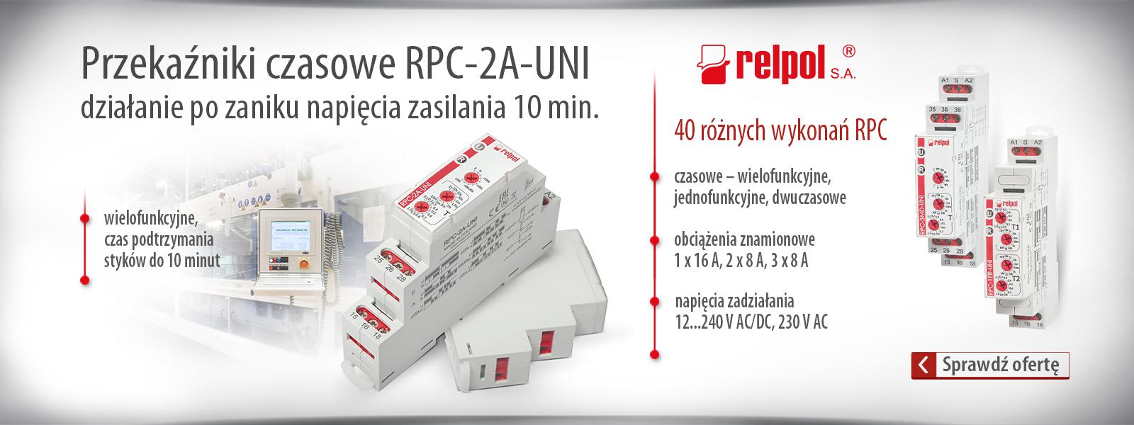 Przekaźniki RPC firmy Relpol