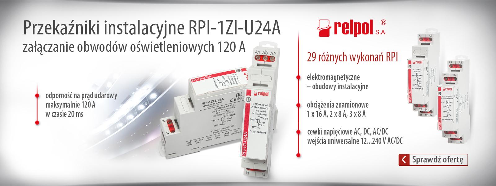 Przekaźniki RPI od firmy Relpol
